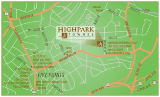 HighPark Townes zoomed vic map