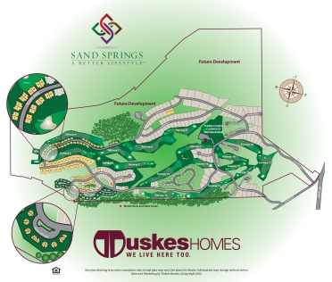 Sand Springs site map